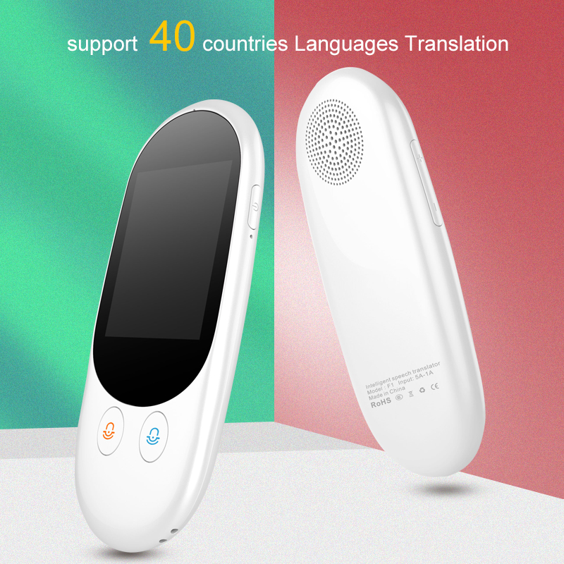 Smart Language Voice Translator Device Translation 40 Languages 2.4 Inch TouchScreen Rechargeable Battery for Learning TravelingSmart Language Voice Translator Device Translation 40 Languages 2.4 Inch TouchScreen Rechargeable Battery for Learning Traveling