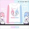 Anime Re: La Vida en un mundo distinto de cero Ram Rem SS Modal Cosplay Sudadera Top Camisa Con Capucha en El Envío gratis