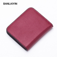 Genuine Leather Purse Men Wallets Coin Pocket Mini Purse High Quality Wallet Short Purses For Women Gift