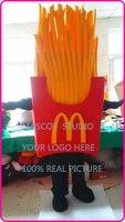 Талисман French Fries чипсы талисмана Герой мультфильма аниме Mascotte нарядное платье карнавальный костюм