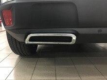 עבור פיג ו 3008 5008 2017 2018 רכב סטיילינג חיצוני ABS Chrome אחורי רעש משתיקי קול אנד צנרת מדבקת כיסוי 2pcs