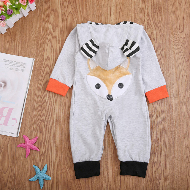 2be0e4646 cartoon baby boy girl clothes 2017 infant newborn baby 3D ear cute ...