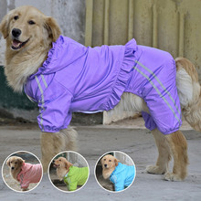 2016 New Pet Dog Cool Raincoat Hoody Waterproof Rain Lovely Jackets Coat Apparel Clothes