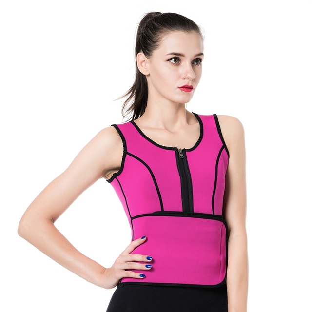 c4b463ccae Plus Size Neoprene Sweat Sauna Hot Body Shapers Vest Waist Trainer Slimming  Vest Shapewear Weight Loss Waist Shaper Corset