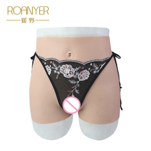 все цены на Roanyer crossdresser silicone pants with artificial penetrable fake vagina transgender Realistic Shemale Underwear Drag Queen онлайн