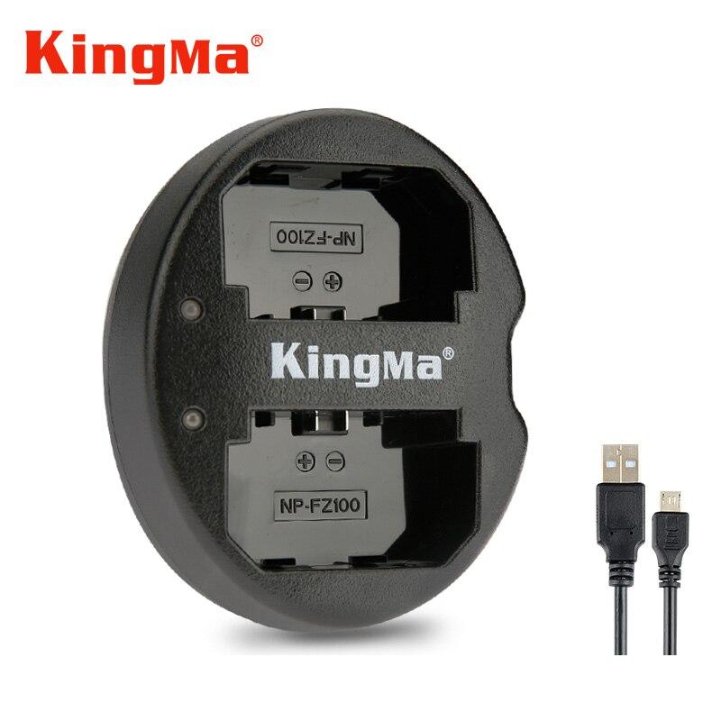 KingMa NP FZ100 Dual USB cargador de batería para Sony NP-FZ100, BC-QZ1 Alpha 9, A9, Alpha 9R, a9R Alpha 9 s ILCE-9 A7m3 a7r3 7RM3