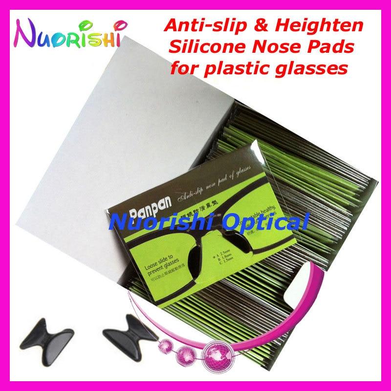 100 пар T2100 анти-скольжения силиконовые увеличивающие рост Носовые фиксирующие накладки Стикеры для ацетат Пластик очки солнцезащитные очки 1,8/2,5/2,8 мм