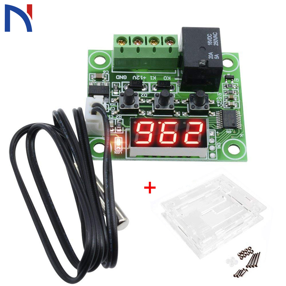 XH-W1209 Cool Temp Thermostat Temperature DC12V Switch Controller Acrylic Box