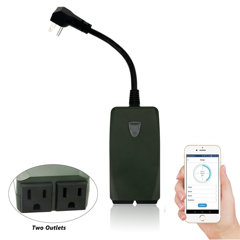 Outdoor Smart Outlet Switch Wi-Fi Smart Plug Wireless Remote Control Outlet Waterproof switch --M25 аксессуар gopro wi fi smart remote armte 002