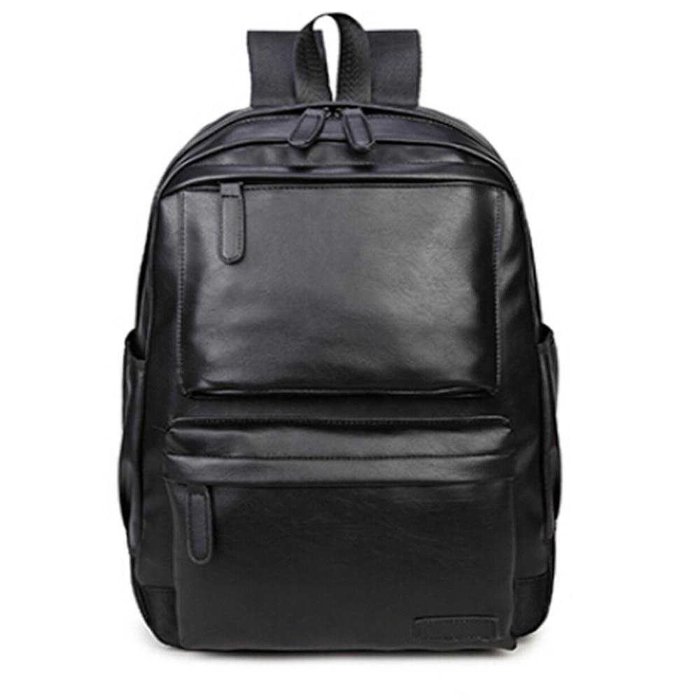 2017 Men Women Vintage Leather Backpack Travel Rucksack Shoulder School Bag For Teenagers High Quality Mochila Masculina*10