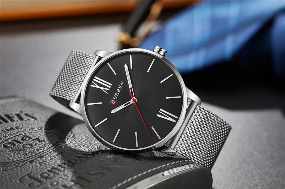 HTB1EZMoRXXXXXa apXXq6xXFXXXT - CURREN Luxury Stainless Steel Business Watch for Men