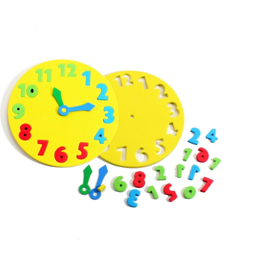 aliexpresscom buy 5 pcs multi color diy handmade eva children clocks kids child kindergarten school art craft learning time educational toys from