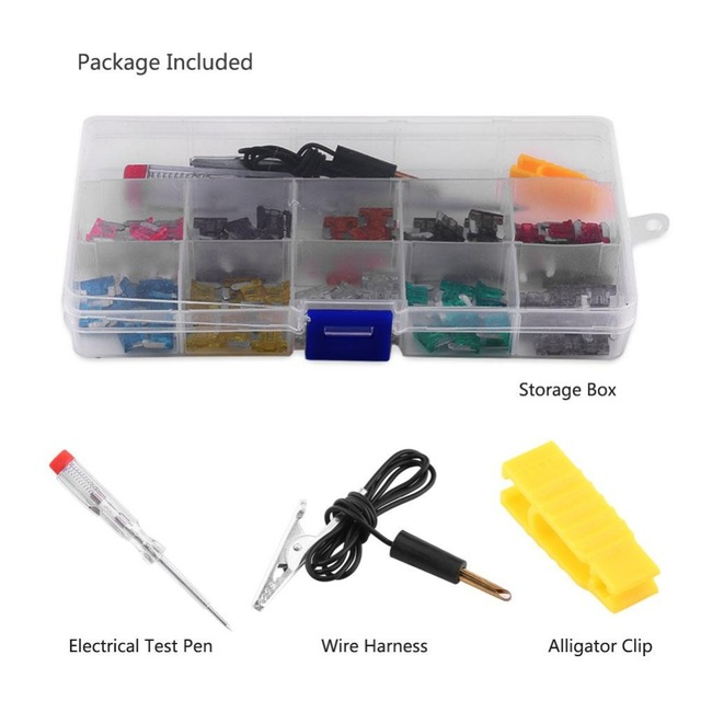 100pcs Auto Standard Mini Fuse 3A 4A 5A 7.5A 10A 15A 20A 25A 30A 35A for Car Auto Truck SUV Assorted Mini Blade Fuses Kit Set