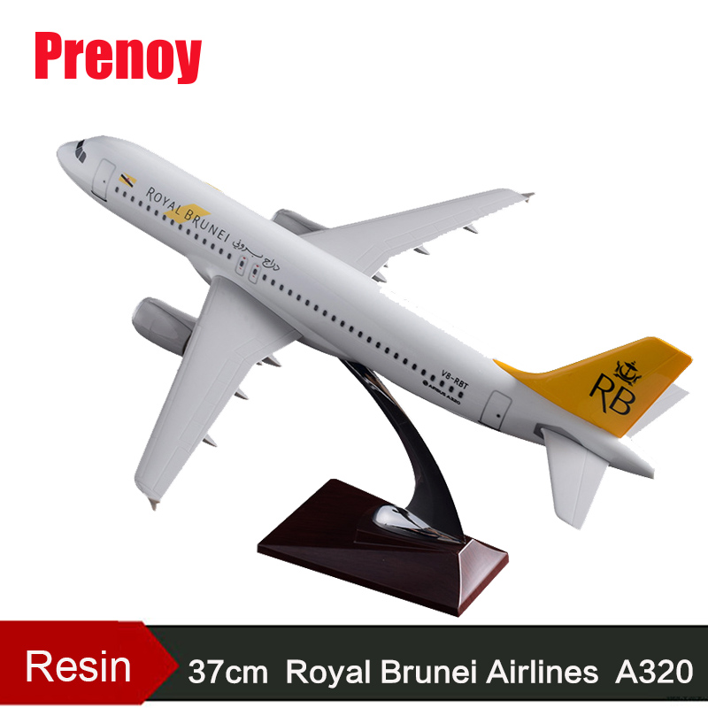 37cm A320 Royal Brunei Airbus Plane Model Brunei Airline RB Airbus Aviation Brunei A320 Resin Aircraft Airplane Model Collection brunei english