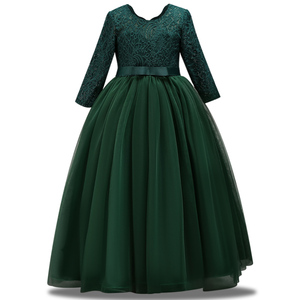 Image 2 - 長袖フラワーガールのドレス初聖体ドレス女塩漬け糸誕生日ドレスパーティーイブニングドレス
