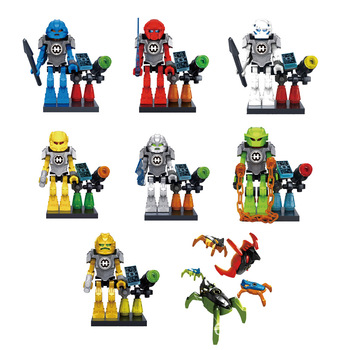 8Pcs/SetHero Factory 5 Star Surge EVO Bulk Furnd Stormer Robot Building Block Brick children Toys Compatible with lepinnglys image
