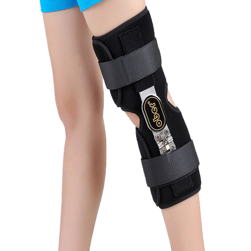 Medical Knee Brace Fixator Aluminum Stabilizer Support For Knee Joint Loose Ligamentous Injury Left or Right Leg 1 Piece oper medical knee orthosis support brace kneecap joint belt knee pads relief pain stabiliser meniscus injury soften patellar