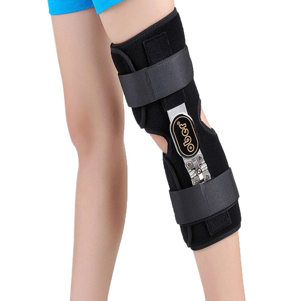 Medyczne kolano Brace stabilizator aluminium stabilizator wsparcie dla stawu kolanowego luźne więzadeł szkody lewej lub prawej nogi 1 sztuka w Szelki i korektory postawy od Uroda i zdrowie na  Grupa 1