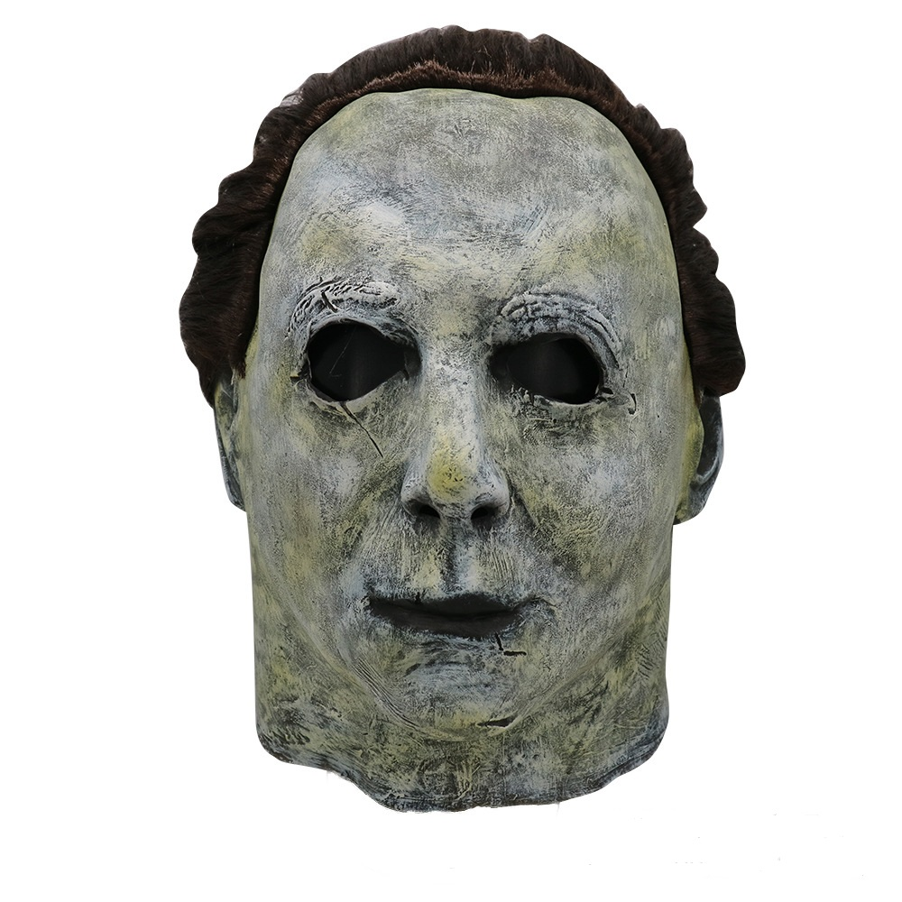 2019 Hot Movie Horror Michael Myers Mask Halloween Cosplay Latex Full Face Helmet Halloween Party Scary Props Free Shipping