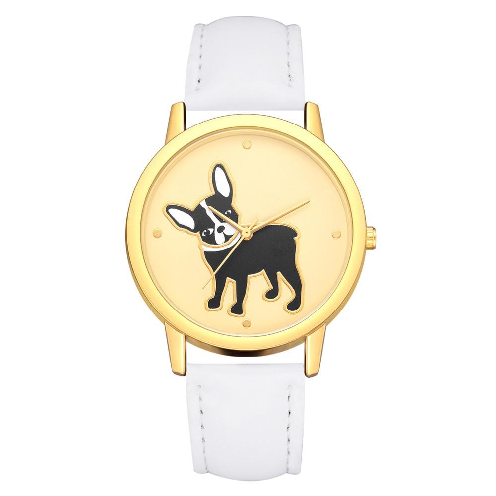 Dog Printing Analog Quartz Wrist Watch Arrival Women Vogue Watches Female Dial Clock Ladies Casual Watch Relogio Reloj Mujer 999