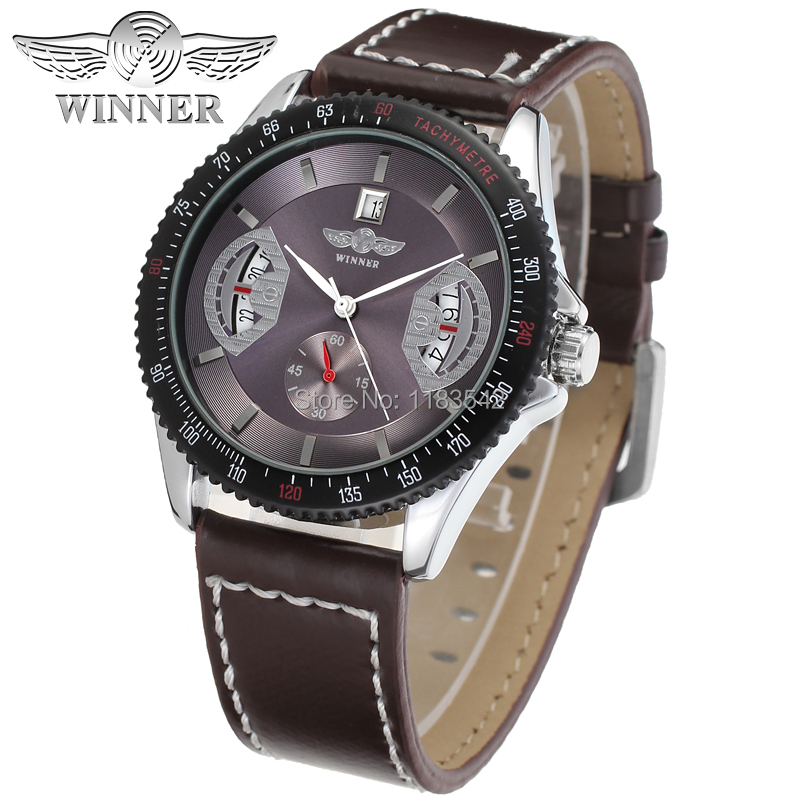Winner WRG8045M3T5 Automatic men new wristwatch skeleton silver color watch for Men deep gray leather strap shipping  free футболка winner футболка winner 3 color italy