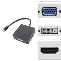 HIPERDEALE 3 In 1Mini Display Port DP Thunderbolt To DVI VGA HDMI Adapter Cable For MacBook