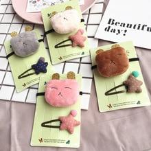 Korea Handmade Lovely Bear Stars Flower Crown Animal  Hair Accessories Clip Hairpin Bows Headbands for Girls 5