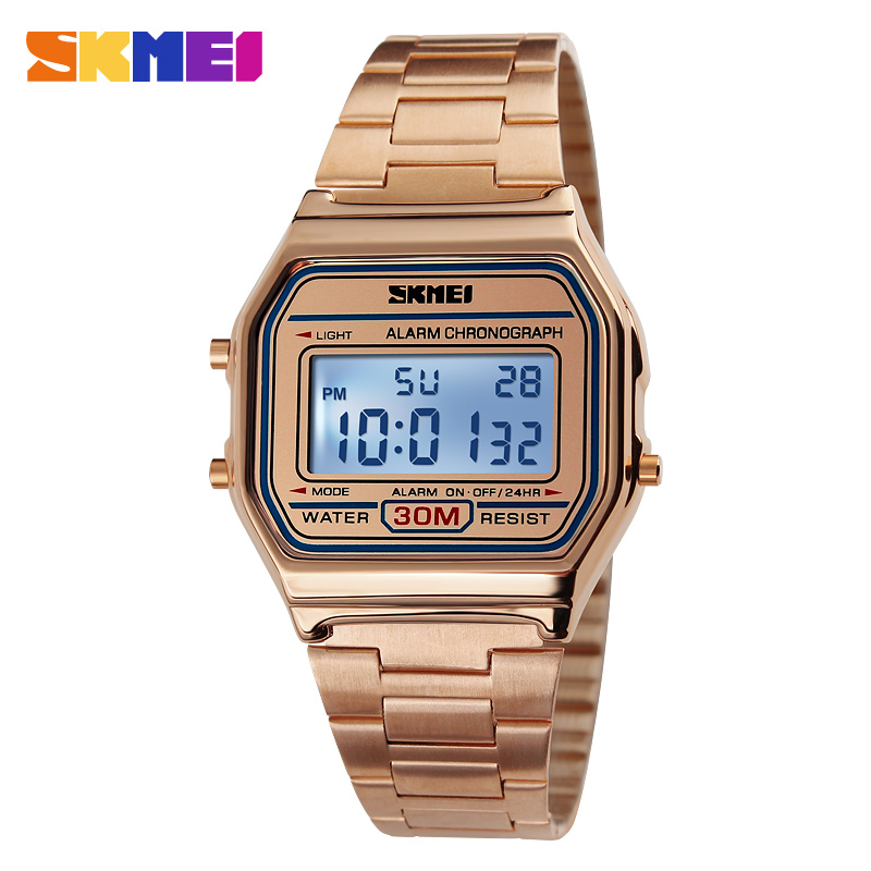 SKMEI Hot Men LED Digital Watch Sports Watches men's Relogio Masculino Relojes Stainless Steel Military Waterproof Wristwatches