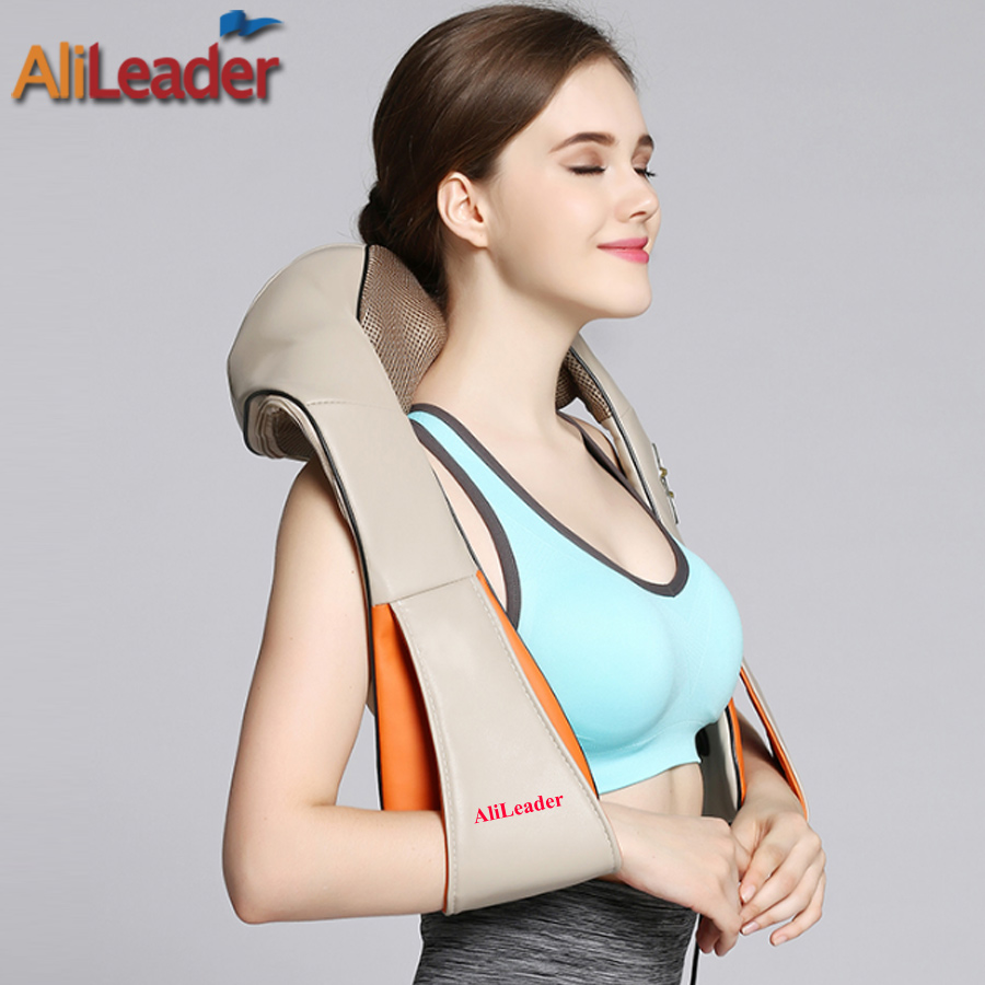 Portable Massage Pillow With Warm Heat For Back Shoulder Foot Arm Leg Waist Neck Massager 8 Massage Heads Kneading Machine 2016 new arrival kneading massager with heat great at home spa machine for neck back shoulder