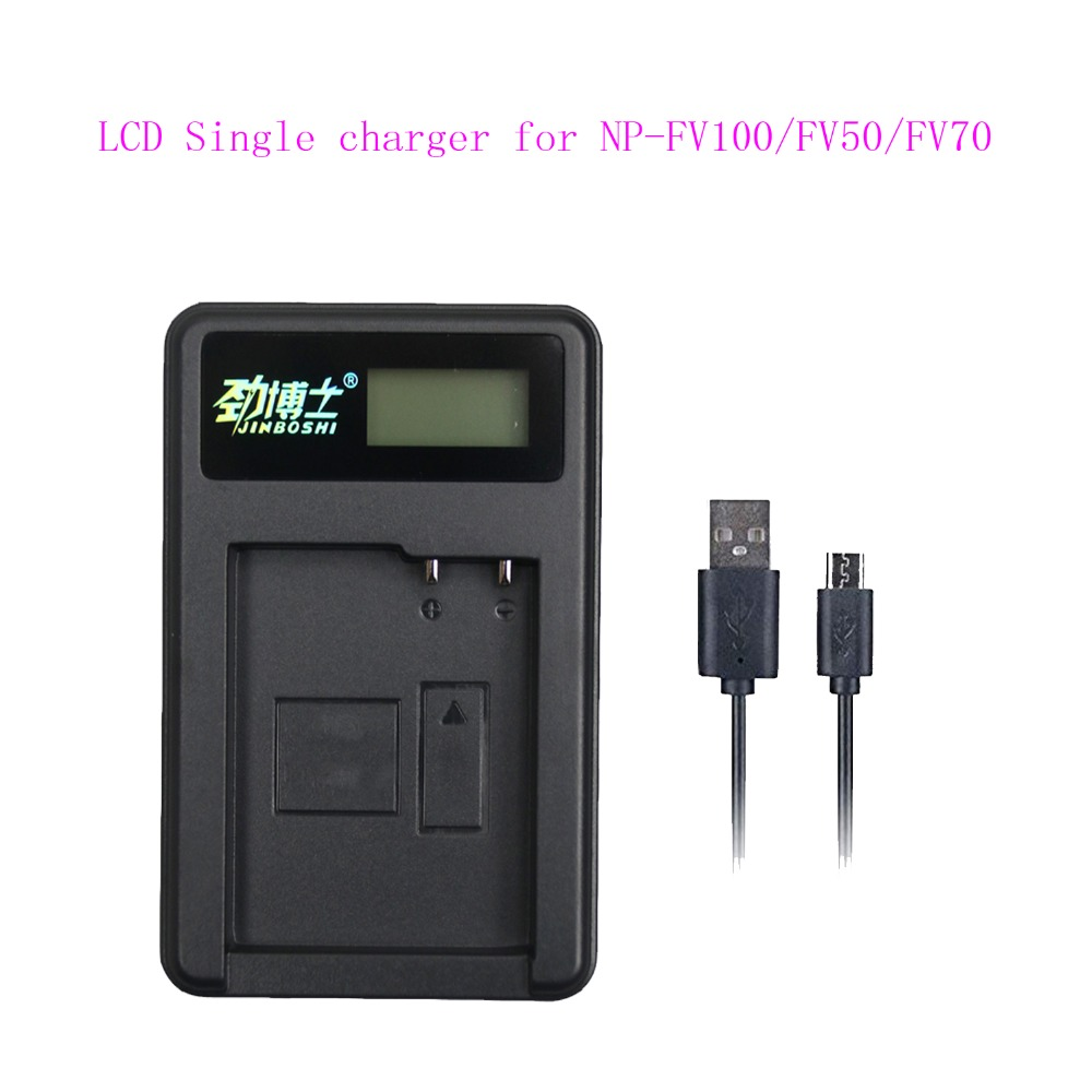 Hot 1PCS LCD USB Single Charger for Sony NP-FV100 NP FV100 FV50 FV70 FH100 FH70 FH50 FH60 FP50 FP90 CX700E PJ50E 30E 10E CX180E image