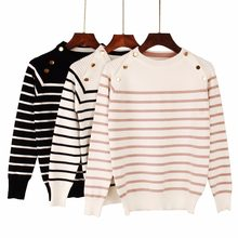 New Autumn Winter Women Pullover Sweater Fashion Striped Designer Casual Jumper O-Neck Long Sleeves Female Sweater(China)