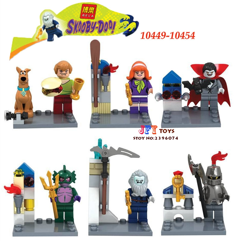 6pcs star wars super heroes Bela 10449-10454 Scooby Doo Fred/Shaggy building blocks model bricks toys for children juguetes велосипед stels navigator 490 2013