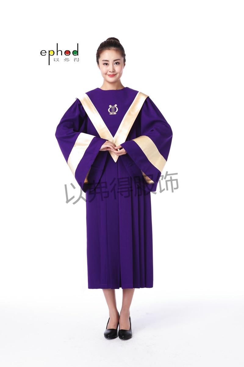 Online Shop Purple and Light yellow Church Choir Robe OLQU By ...