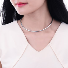 Fashion Vintage Women Simple Silver Gold Color Thin 316l Stainless Steel Chain Choker Chocker Necklace Jewelry Accessories(China)