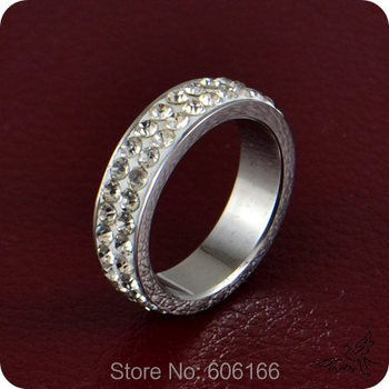 9x Circle CZ Cubic Zirconia Engagement Wedding Ring Enragement Ring Stainless Steel Rings Luxurious TOP Quality Fashion Jewelry image