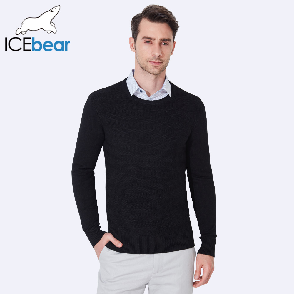 ICEbear 2017 Male Pullover Mens O-Neck Sweater Standard Wool Long Sleeve New Autumn Winter Sweater Men Computer Knitted 1939D