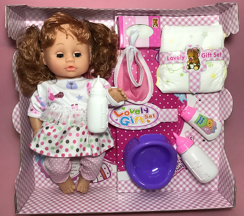 Simulation 32cm Blink eye , drink water , to the toilet and can speak alive doll model Soft Reborn Baby Dolls baby kids toy