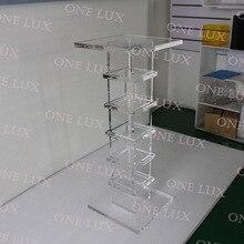 Прозрачная акриловая подставка, качественная подставка Lucite sculpture, квадратные консольные столы ONE LUX