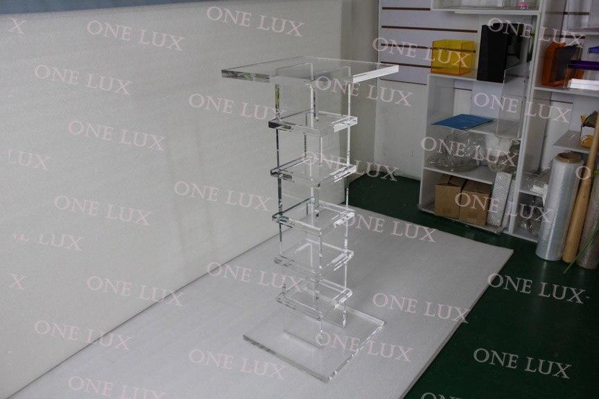 Прозрачный акриловый пьедестал, качество lucite скульптура, квадратный Пристенные столики один Lux