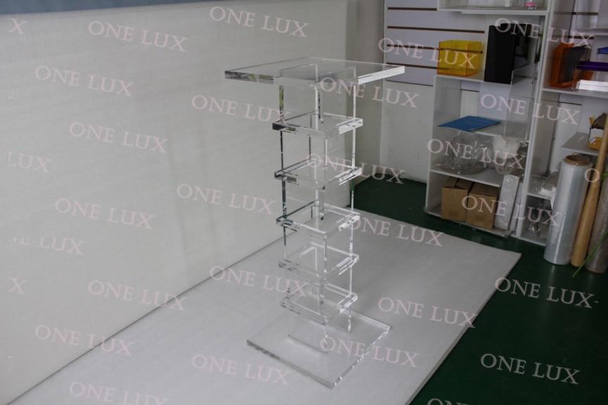 Acrilico trasparente Piedistallo, Qualità scultura Lucite stand, Consolle Tavoli Quadrati UN LUX