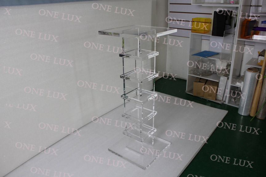 Clear Acrylic Pedestal,Quality Lucite sculpture stand,Square Plexiglass Console Tables ONE LUX