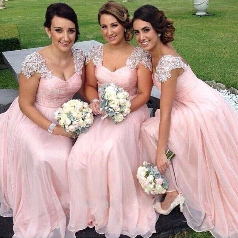 Popular Blush Pink Bridesmaid Dresses 2016-Buy Cheap Blush Pink ...