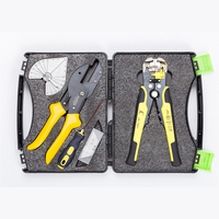Professional tool Cutting Pliers and Stripping Pliers Kit Angle Pliers Split Blades with Dial 45 to 135 Degrees Free Adjustment