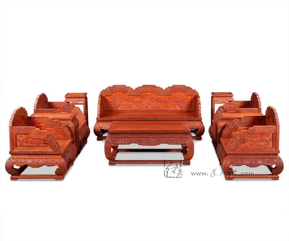 Brand new 1 + 2 + 3 miejsca wersalka zestaw Rosewood salon drewniane 10-sztuk apartament typu Suite chiński japoński klasyczny styl nowoczesne