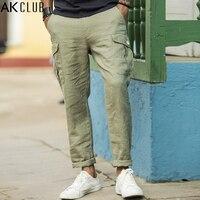 AK KULÜBÜ Erkekler Keten Pantolon Cuba Libre Serisi Yeni Cep Harem pantolon Jogger Legging Rahat Pantolon Tam Boy Erkek Pantolon Şalvar 1712033