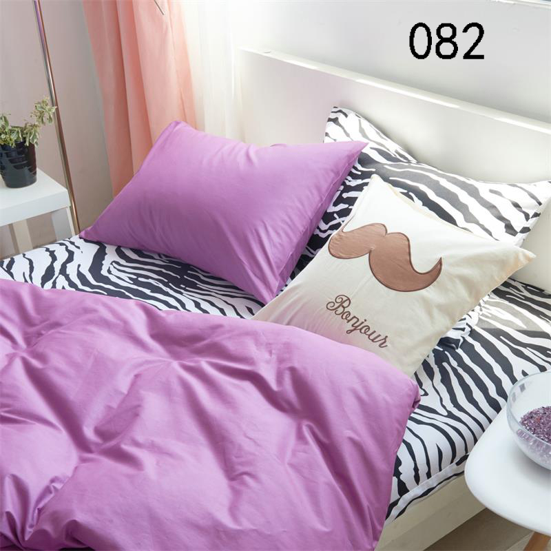 Twin Full Queen King Purple Zebra Cotton 4Pcs Bedding Sets Bed Linens Duvet  Cover Quilt Cover. Compare Prices on Zebra Bed Set  Online Shopping Buy Low Price
