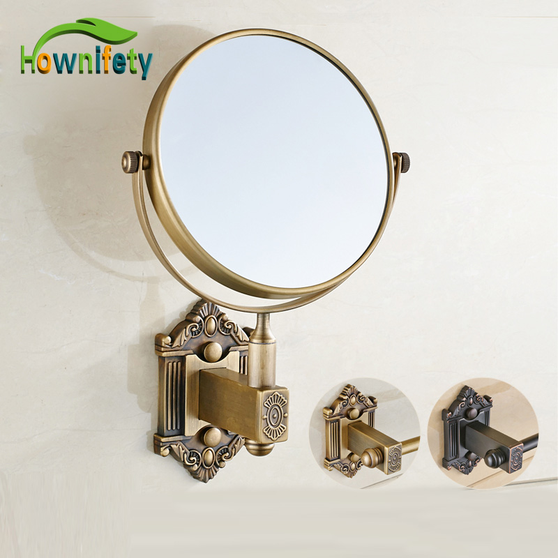 Antique Brass & Oil Rubbed Bronze Bathroom Make Up Cosmetic Beauty Vanity Mirror Wall Mount allen roth brinkley handsome oil rubbed bronze metal toothbrush holder