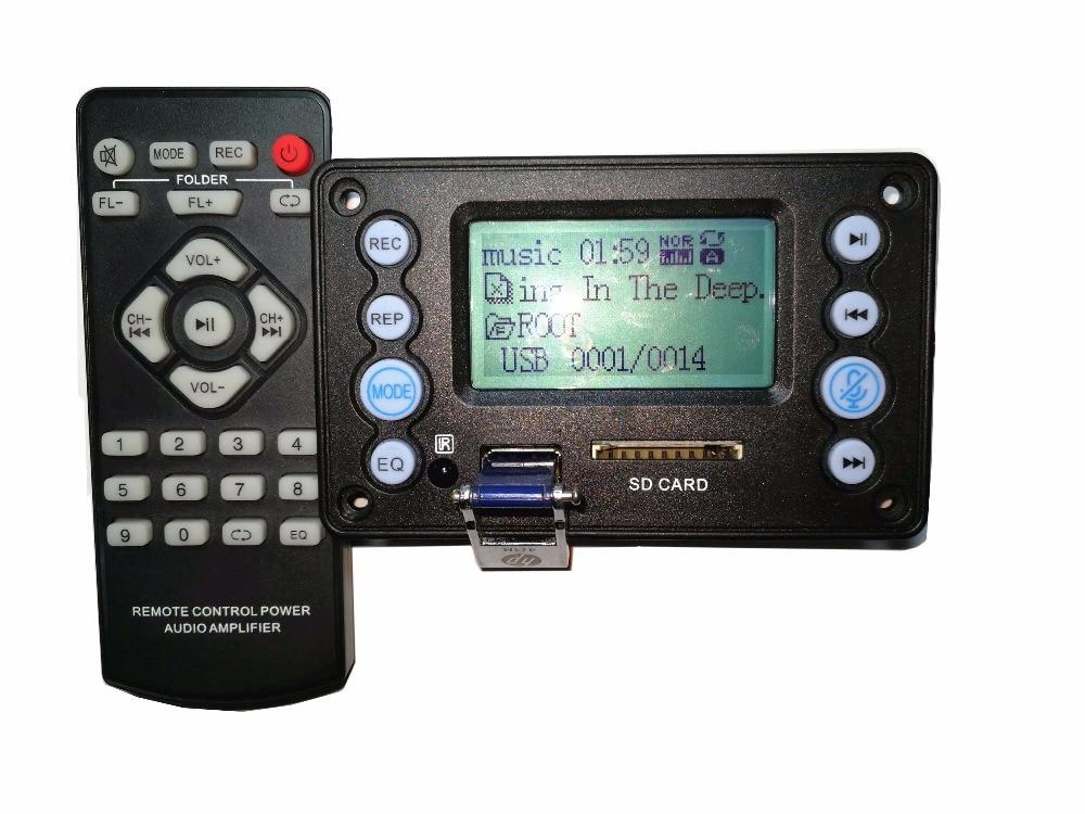 DC5V 12 V-20 V batterie 4.2 entrée Audio Bluetooth enregistrement paroles de Radio affichage APE, FLAC, WMA, WAV, MP3 carte de décodeur Audio