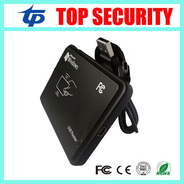 10pcs a lot access control USB smart RFID card EM card reader 125KHZ proximity card reader for register the card NO. original access control card reader without keypad smart card reader 125khz rfid card reader door access reader manufacture