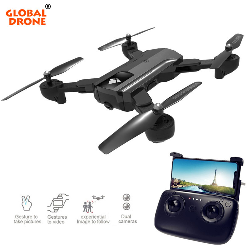 Global Drone RC Helicopter Foldable Quadcopter Wifi FPV Drones With Camera HD Optical Flow VS E58 RC Dron global drone with camera hd foldable rc quadcopter altitude hold helicopter wifi fpv dron vs e58